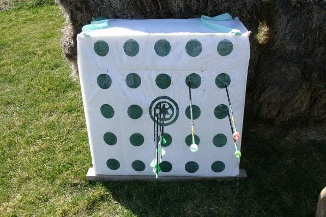 A bag target on the field