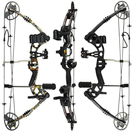 Quiver Pro Series Adult Compound Bow Set 70lb Sight Arrow Rest Kit Arrows