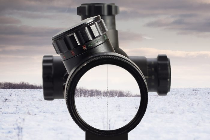 A quality scope used in snow